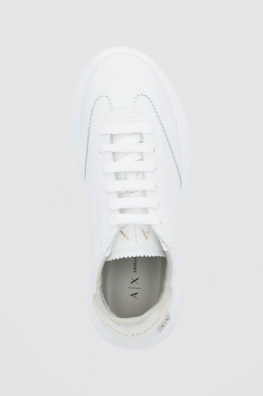 biały Armani Exchange - Buty skórzane