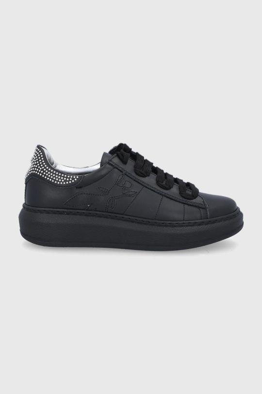 černá Patrizia Pepe - Kožené boty Dámský