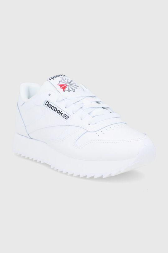 Reebok Classic - Buty skórzane Cl Lthr Ripple biały