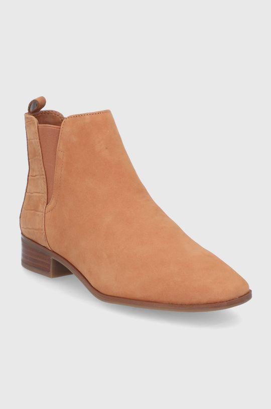 Aldo - Semišové topánky Chelsea Torwenflex hnedá