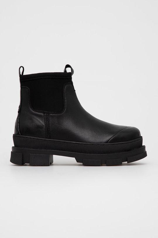 černá Aldo - Kožené kotníkové boty Puddle Dámský