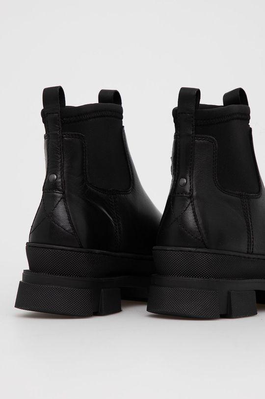 Aldo - Kožené kotníkové boty Puddle  Svršek: Umělá hmota, Přírodní kůže Vnitřek: Umělá hmota, Textilní materiál Podrážka: Umělá hmota