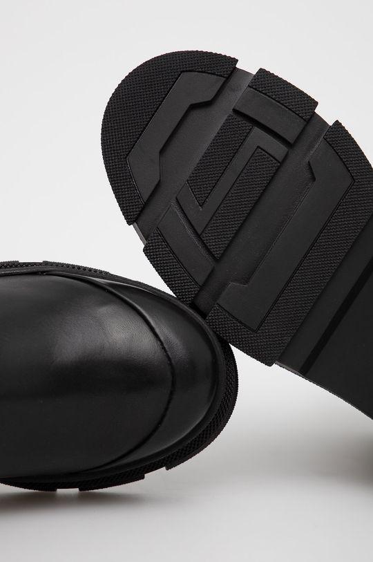 černá Aldo - Kožené kotníkové boty Puddle
