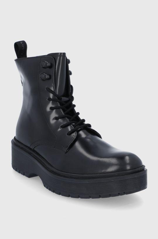 Levi's - Kožené workery černá