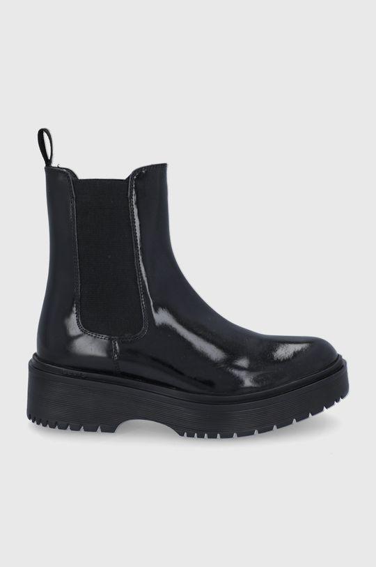 černá Levi's - Kožené kotníkové boty Dámský