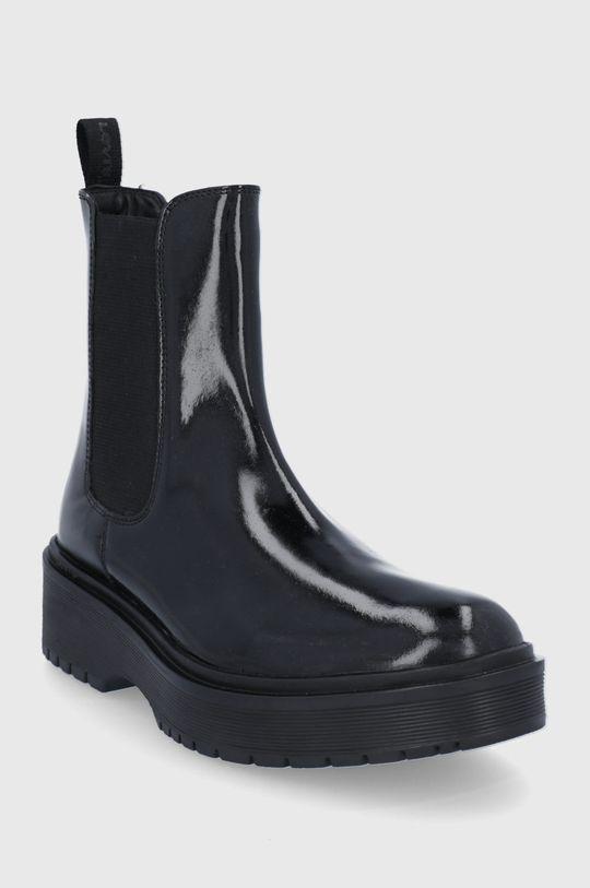 Levi's - Kožené kotníkové boty černá