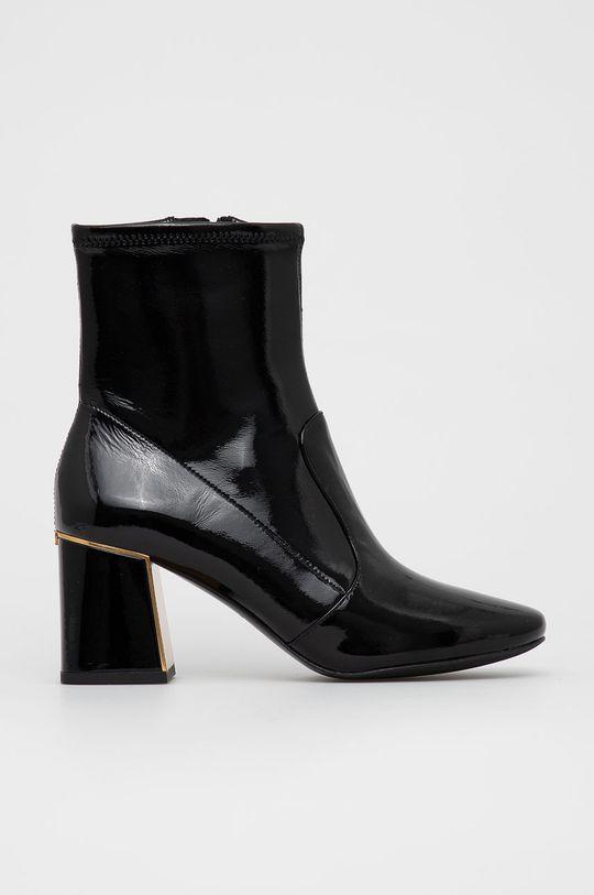 černá Tory Burch - Kožené kotníkové boty Dámský