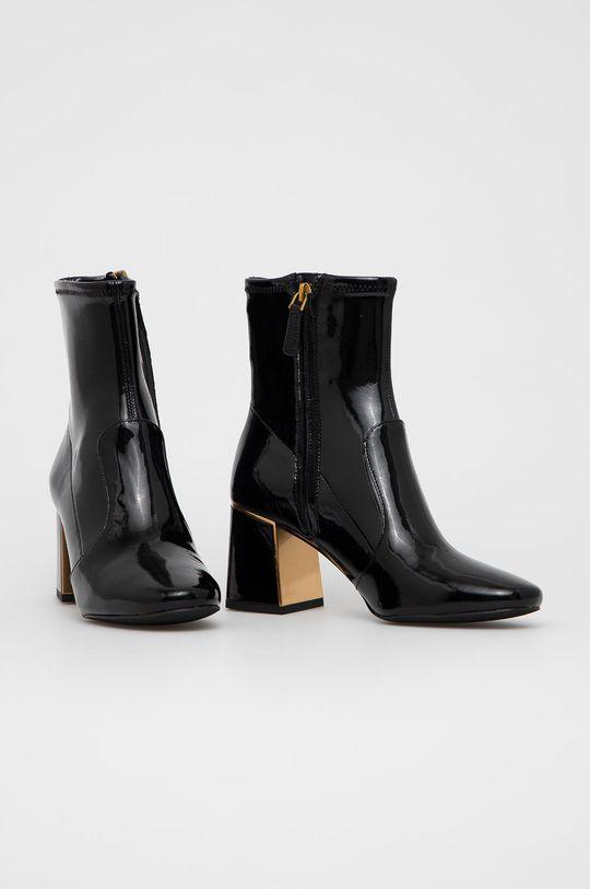 Tory Burch - Kožené kotníkové boty černá