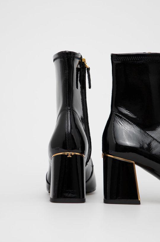 Tory Burch - Kožené kotníkové boty  Svršek: Přírodní kůže Vnitřek: Textilní materiál, Přírodní kůže Podrážka: Umělá hmota, Přírodní kůže
