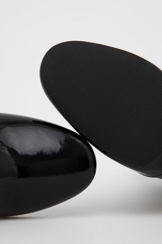 černá Tory Burch - Kožené kotníkové boty