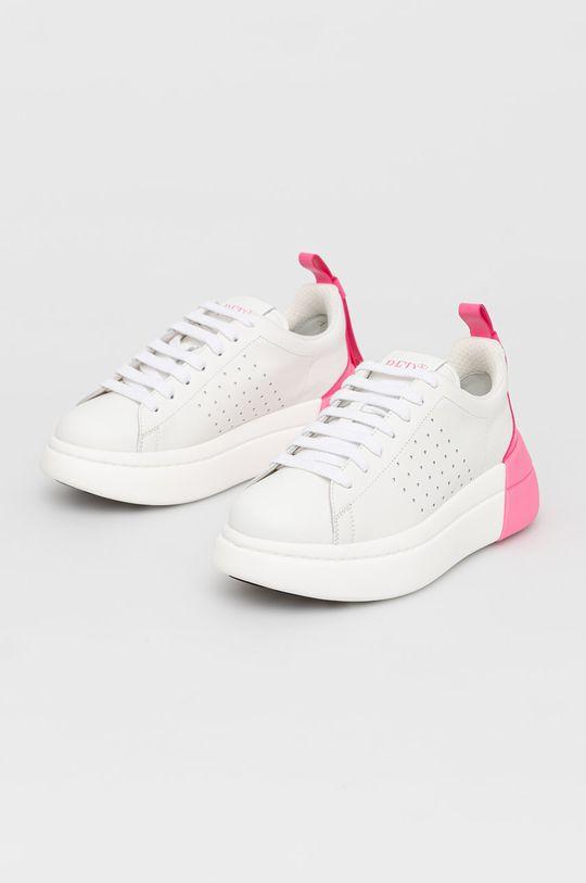 Red Valentino - Buty skórzane biały