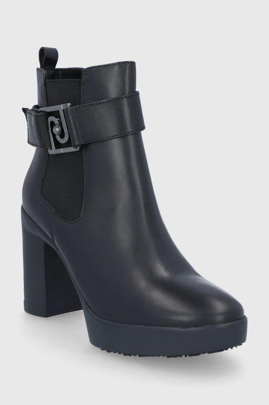 Liu Jo - Δερμάτινες μπότες μαύρο