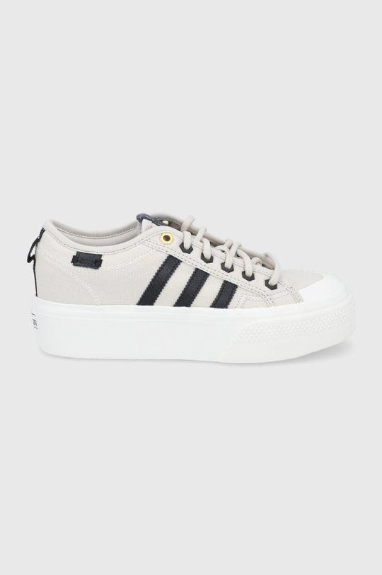beżowy adidas Originals - Buty Nizza Platform Damski