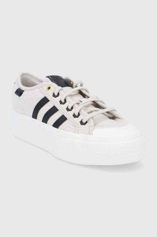 adidas Originals - Buty Nizza Platform beżowy