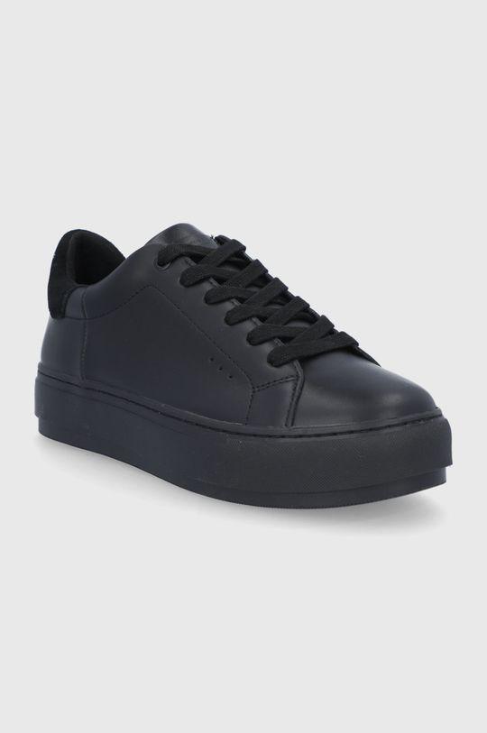 Kurt Geiger London - Kožené boty Laney černá
