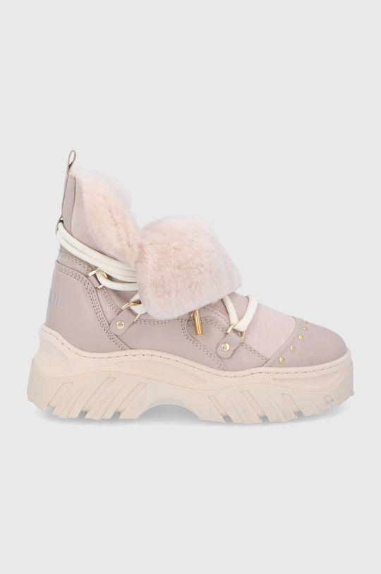 μπεζ Inuikii - Δερμάτινες μπότες χιονιού Γυναικεία