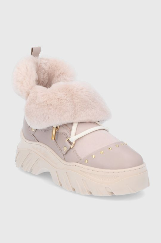 Inuikii - Δερμάτινες μπότες χιονιού μπεζ