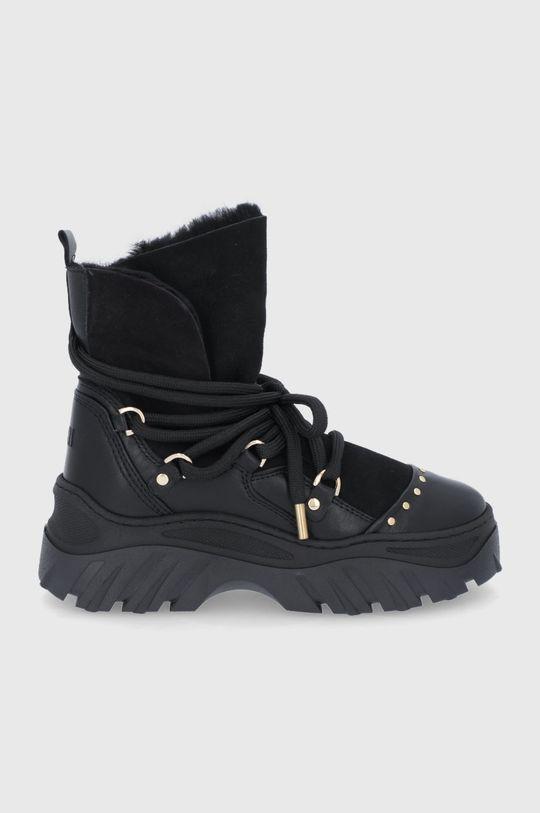 μαύρο Inuikii - Δερμάτινες μπότες χιονιού Γυναικεία