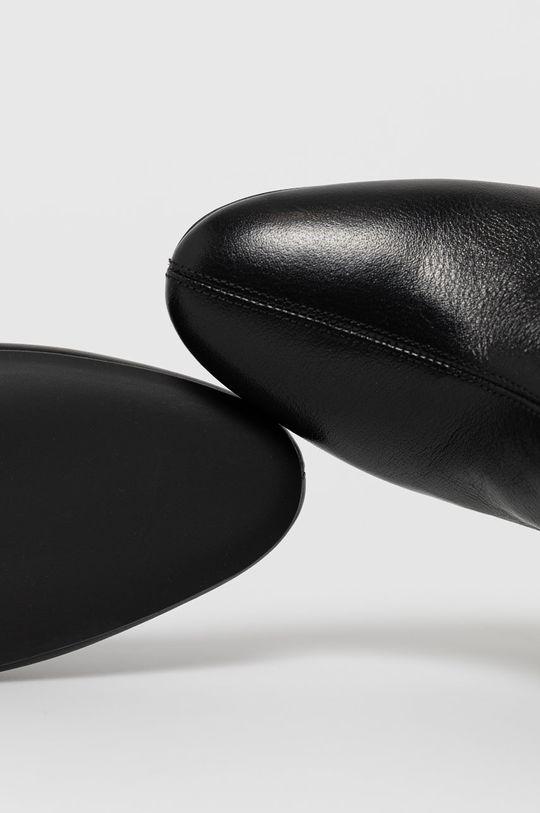 čierna Furla - Kožené členkové topánky