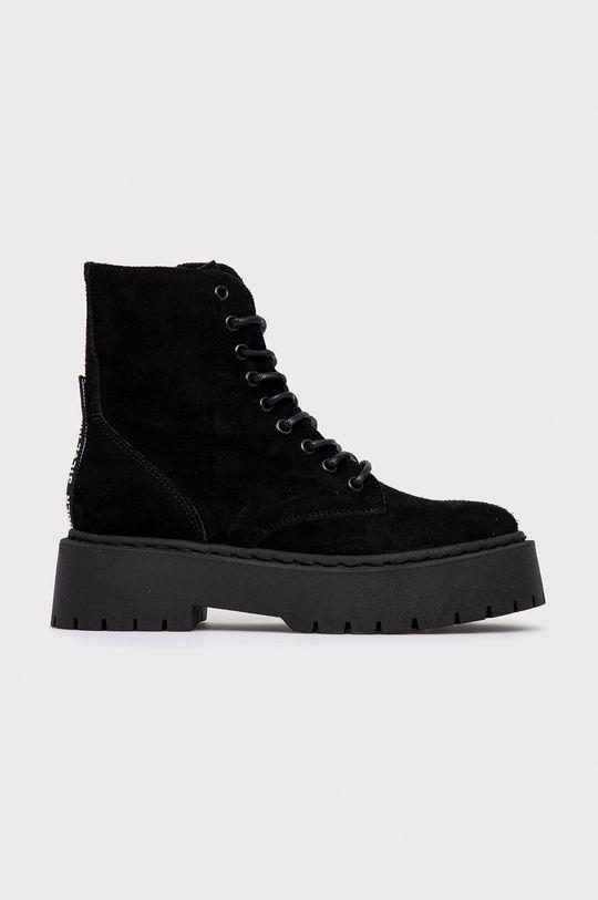 černá Steve Madden - Semišové boty Skylar Dámský