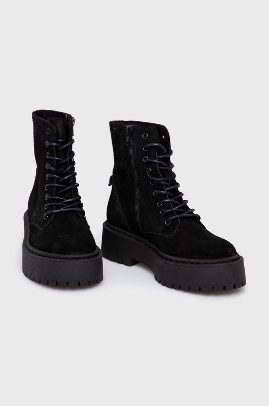 Steve Madden - Semišové boty Skylar černá