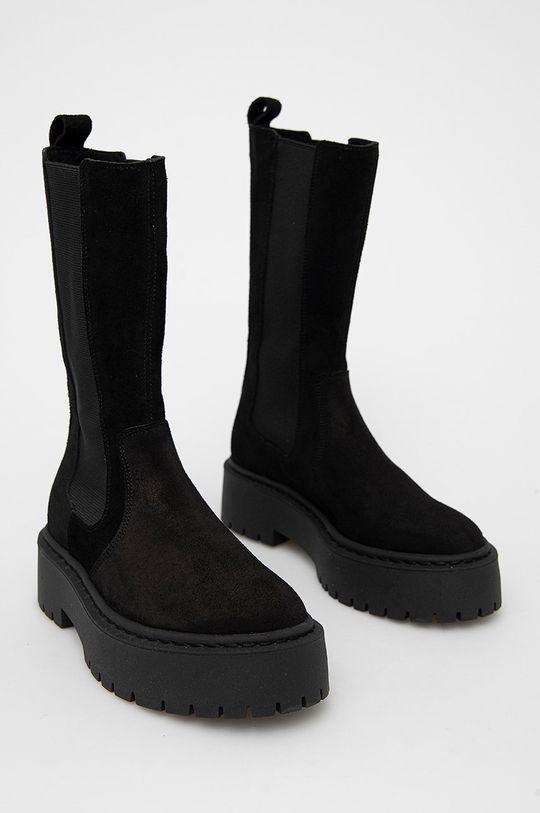 Steve Madden - Semišové kotníkové boty Vivianne černá
