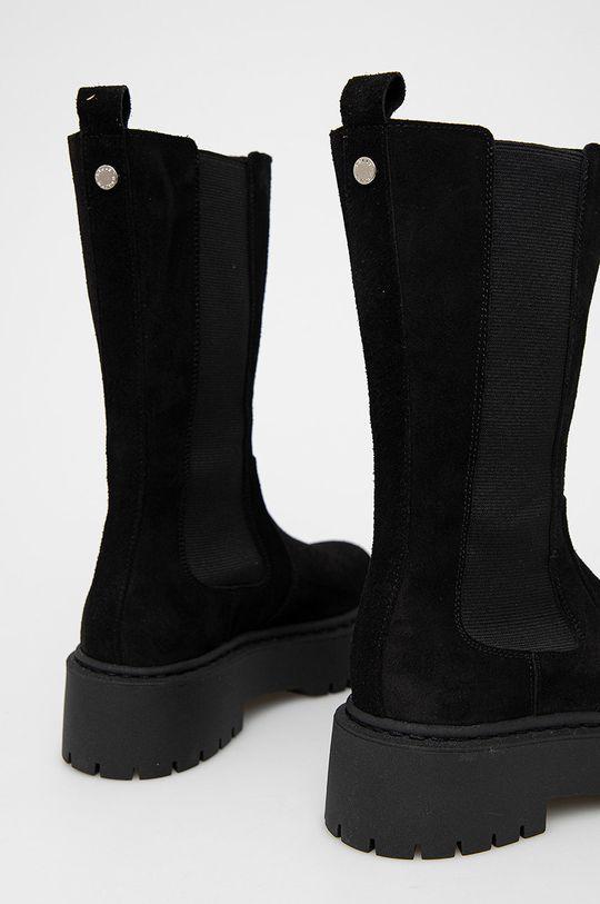 Steve Madden - Semišové kotníkové boty Vivianne  Svršek: Přírodní kůže Vnitřek: Textilní materiál Podrážka: Umělá hmota