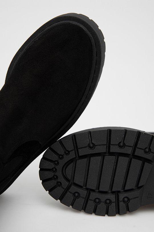 černá Steve Madden - Semišové kotníkové boty Vivianne