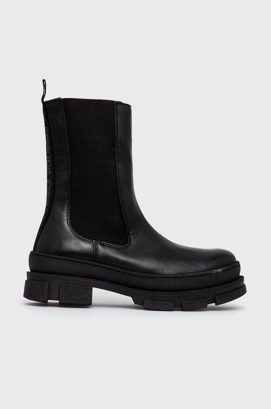 černá Steve Madden - Kožené kotníkové boty Filina Dámský