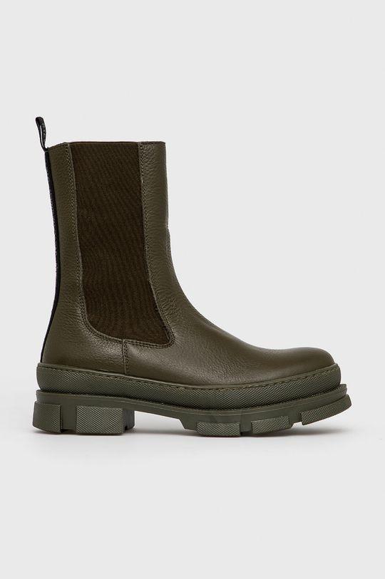 tlumená zelená Steve Madden - Kožené kotníkové boty Filina Dámský