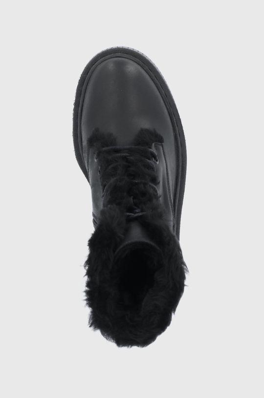 czarny Steve Madden - Botki skórzane