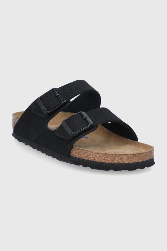 Birkenstock - Kožené pantofle ARIZONA černá