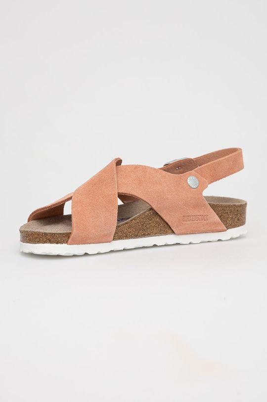 Birkenstock - Sandały skórzane Tulum Coral Cholewka: Skóra zamszowa, Wnętrze: Skóra naturalna, Podeszwa: Materiał syntetyczny
