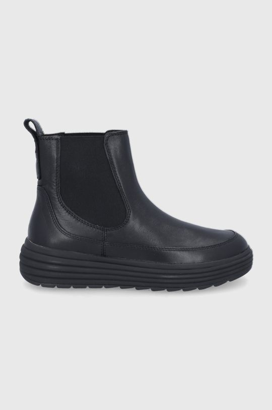 čierna Geox - Kožené topánky Chelsea Dámsky