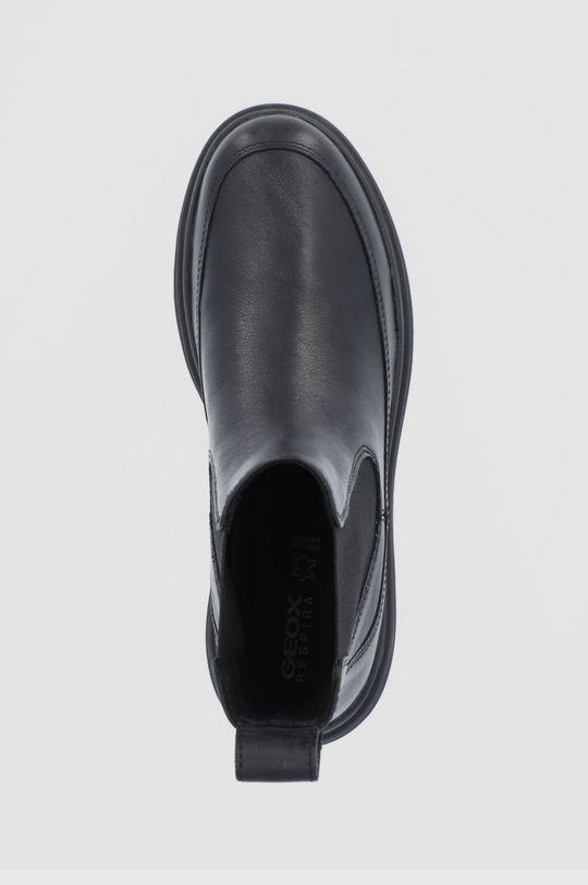 čierna Geox - Kožené topánky Chelsea