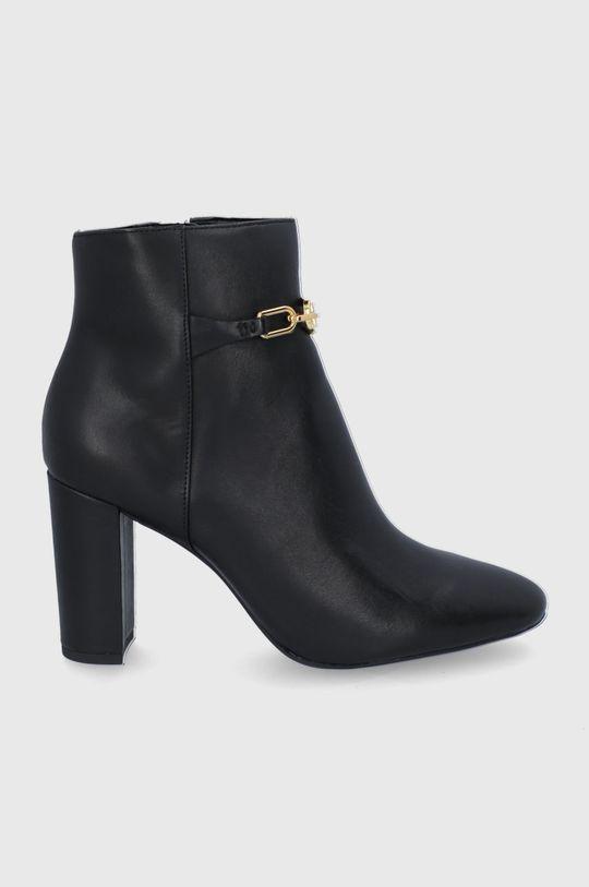 černá Lauren Ralph Lauren - Kožené kotníkové boty Dámský