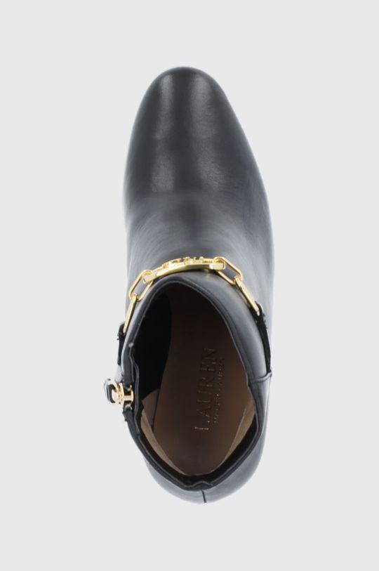 černá Lauren Ralph Lauren - Kožené kotníkové boty