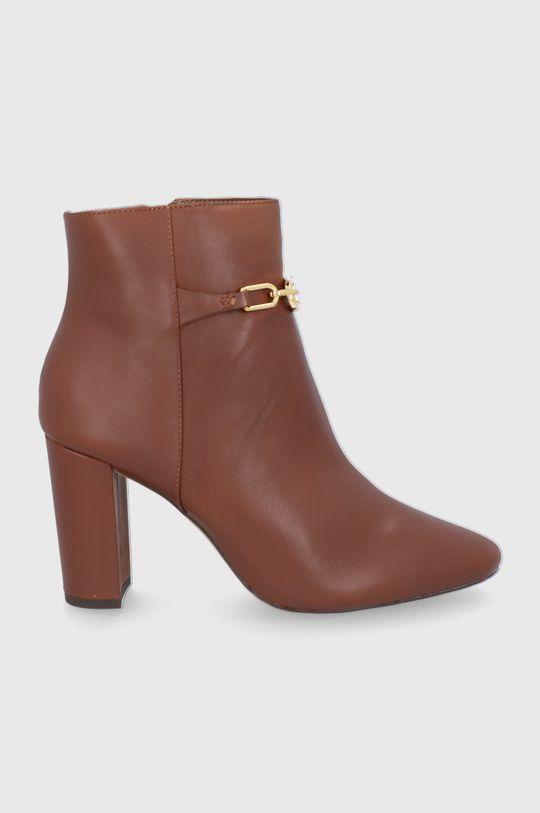 hnědá Lauren Ralph Lauren - Kožené kotníkové boty Dámský