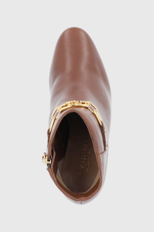 hnědá Lauren Ralph Lauren - Kožené kotníkové boty
