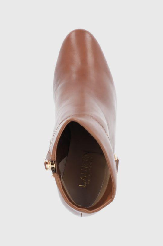 brązowy Lauren Ralph Lauren - Botki skórzane