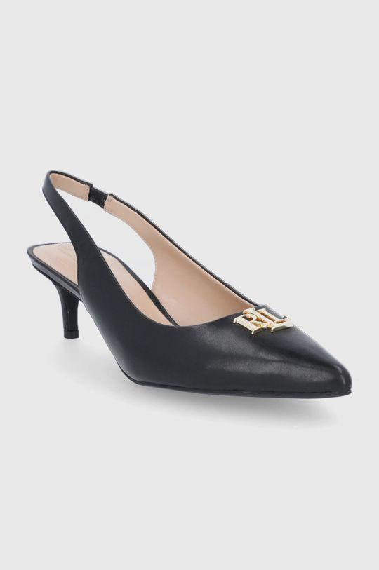 Lauren Ralph Lauren - Kožené lodičky černá