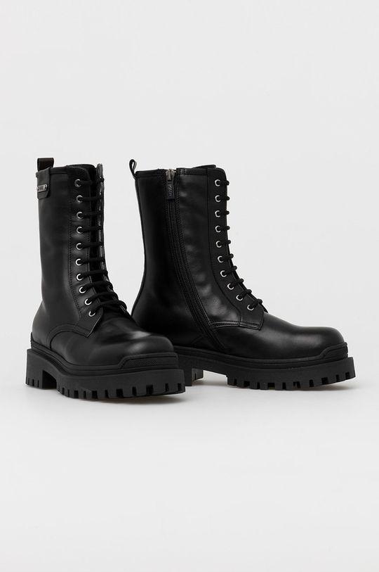 Karl Lagerfeld - Bocanci de piele negru