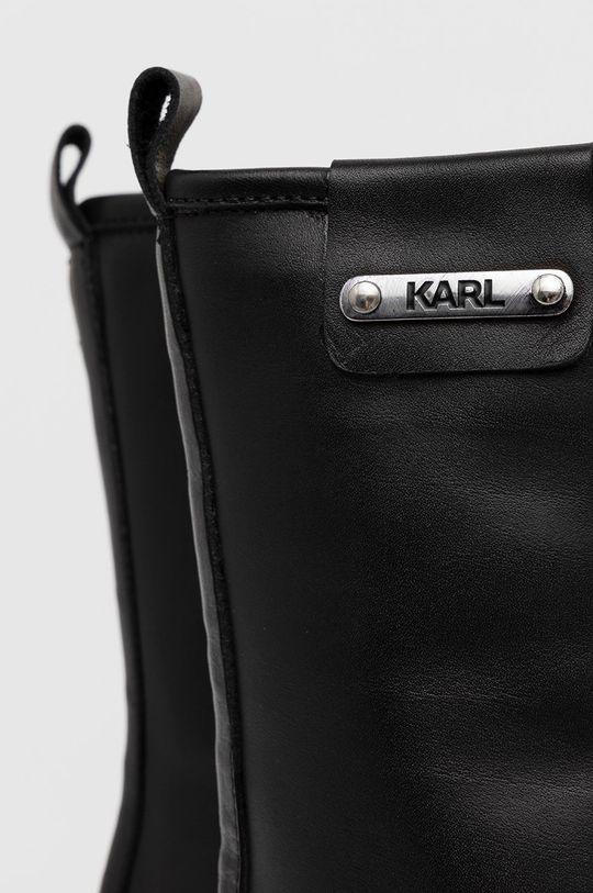 negru Karl Lagerfeld - Bocanci de piele