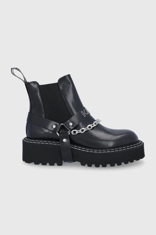 czarny Karl Lagerfeld - Sztyblety skórzane Damski