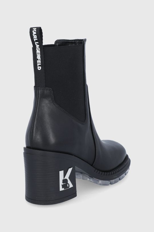 Karl Lagerfeld - Sztyblety skórzane Cholewka: Skóra naturalna, Wnętrze: Materiał syntetyczny, Skóra naturalna, Podeszwa: Materiał syntetyczny