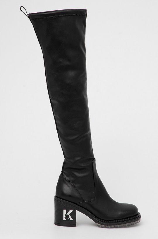 černá Karl Lagerfeld - Kozačky Lancer II Dámský