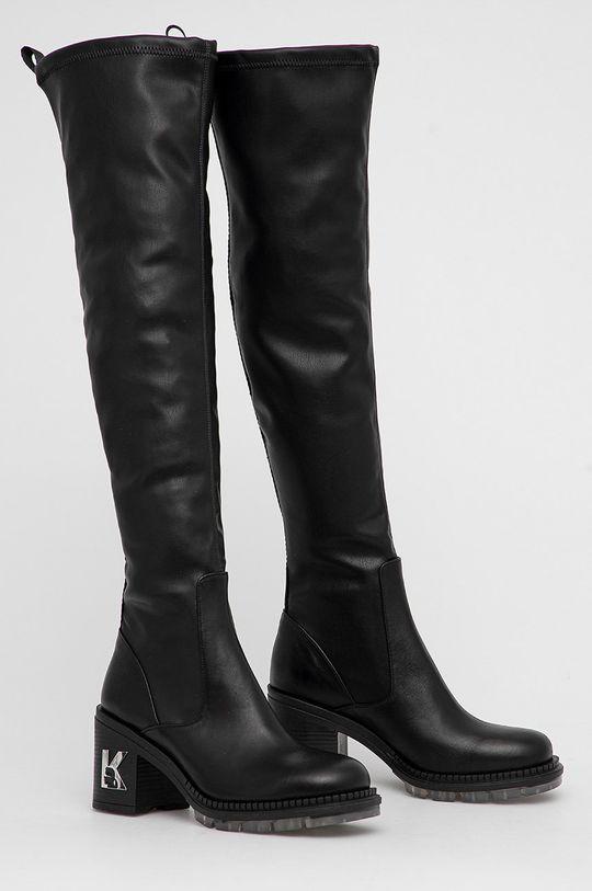 Karl Lagerfeld - Kozačky Lancer II černá