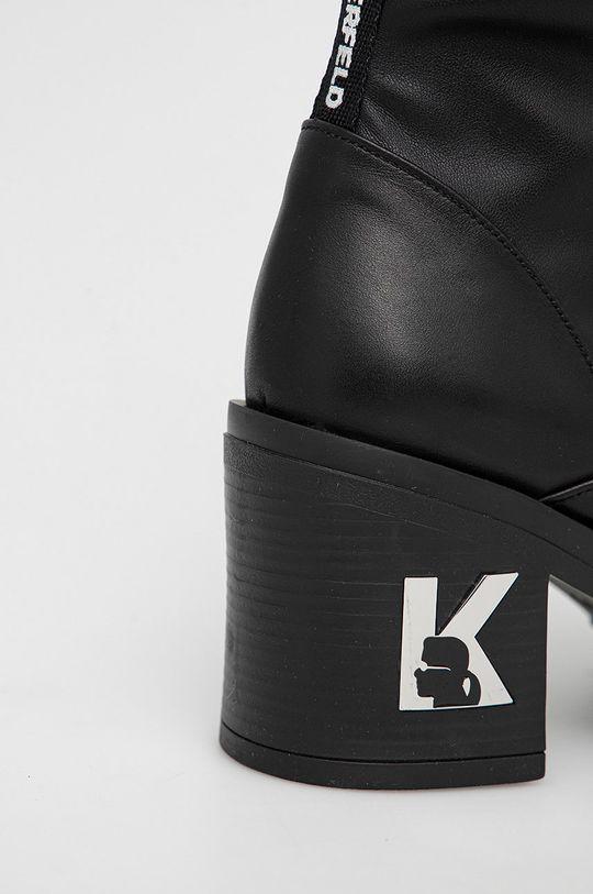 Karl Lagerfeld - Kozačky Lancer II  Svršek: Umělá hmota, Přírodní kůže Vnitřek: Textilní materiál, Přírodní kůže Podrážka: Umělá hmota