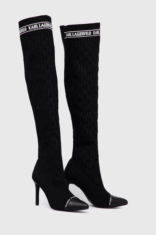 Karl Lagerfeld - Cizme negru
