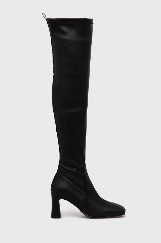 czarny Karl Lagerfeld - Kozaki Damski